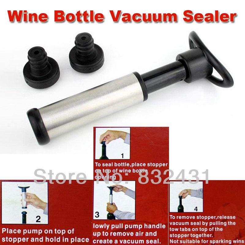 Wine Bottle Vacuum Sealer, Wine Bottle Saver Vacuum Preserver Pump Sealer Bar Stopper +Retail Package(China (Mainland))