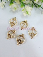 Trendy 50PCS The peace symbol Pendant  Jewelry Findings,Accessories,Vintage charm,pendant,Alloy Rose gold Charms,Free Shipping
