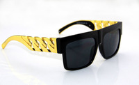 Free shipping Gold chain sunglasses