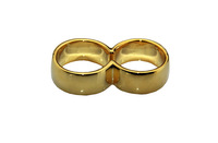 Free shipping Gold-plated double finger ring
