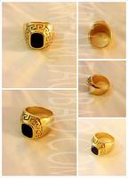 Free shipping Golden pharaoh totem ring