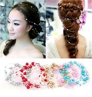 Special bridal accessories wholesale pearl beaded chain Starry headdress headdress hair accessories flower head 100pcs/lots