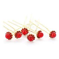 Cheap wholesale jewelry classic dish made hairpin hairpin U-shaped pearl wedding tiara Bob 100pcs/lots