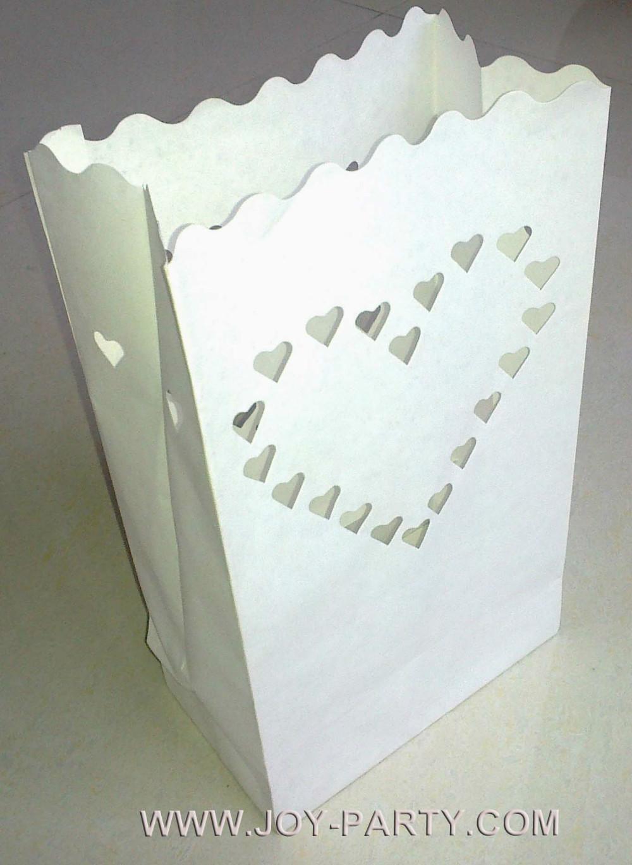 Free Shipping 20pcs Heart Candle Paper Bag Luminaries Bag Wedding Party Valen