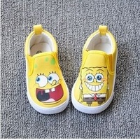 free ship fashion cartoon yellow kids baby boys girls children first walker fits 1-4 years shoes