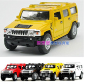 super cool 1:40 mini Hummer H2 SUV car alloy model car toy gift color random 1pc