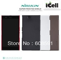 Original Nillkin Brand Super Shield Frosted Hard Case For Sony Xperia Z Ultra XL39H ,+Screen Protector , Free shipping MOQ:1pcs