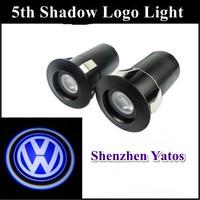 Volkswagen 7W 5Th Cree Led Car Door Logo Laser Projector Lights Ghost Shadow lamps Car Door Welcome Light For VW