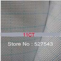 Free shipping 11CT aida cloth with lattice cotton cross stitch cloth aida cloth white color 1m*1.5m