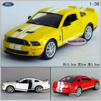 1:38 mini Ford Shelby GT500 sports car alloy model toy gift pull back random 1pc