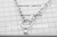 20pcs 20''  Stainless steel 1.2mm wire 6mm width O ring chain for floating charm glass locket keepsake,no locket