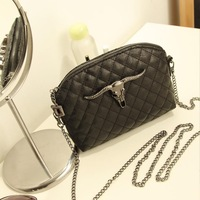2014 women's handbag fashion vintage bags plaid chain small bag fashionable casual messenger bag