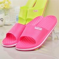 New 2014 Free Shipping Lovers sandals summer flat slippers flip flops beach slipper flip-flop slippers male&women's slippers 106