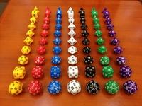 Creative Multi-sided solid color Dice Dungeons & Dragons DND epoch of Warcraft 10pcs/LOTD4 D6 D8 D10 D12 D20 Craps