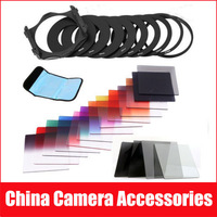 22in1 G.ND2 4 8 Graduated Color Filter + 9 Adapter Ring Holder For Cokin P+free shipping +tracking number