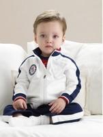 Polo Turn-down Collar T-shirt Sports Pants Set Boy Jacket+Pants Suit Children Coat Baby Clothing Kids Garment Boy Outfits Autumn
