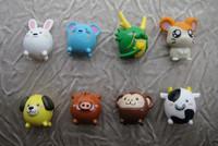 100pcs/lot PVC mini 1.5cm animals cartoon figures random mixed