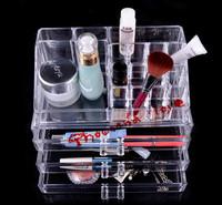 Wholesale - US Stock Free Shipping Acrylic Princess Makeup Organizer Fashion Cosmetic Carrying Case Box SF-1304