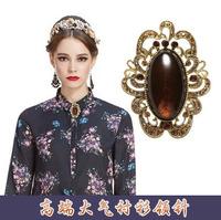 Free shopping Fashion OCHIRLY 2013 new arrival female winter vintage imitation gem diamond decoration metal brooch