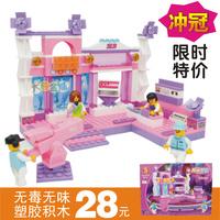 assembling toys girl gorgeous building blocks M38-B0252 wholesale stage entity