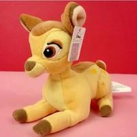 Free shipping12CM=4.7Inch cute cartoon little deer bambi plush stuffed toy birthday gift for kids