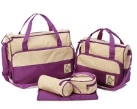 (1set=5pcs) Mummy wet bags maternity bags baby diaper changing nursery bag  7colors Free Shipping