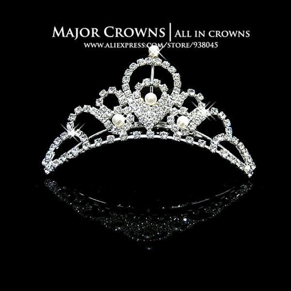 BUY CHEAP Hair Combs Factory Wedding Gift Bridal Party Prom Tiara Crown HC065(China (Mainland))