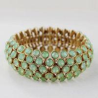 Vintage Stretchy Imitation Gemstone Bracelets&Bangles For Women Gold Cuff Crystal Bracelets New Fashion Jewelry 2014