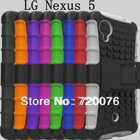 NEXUS5 Fashion TPU+PC Gel Hybrid Curve KickStand High Impact Armor Hard Cover Case For LG NEXUS 5 shakeproof dustproof stand