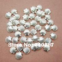 New Free Shipping Wholesale/ Nails Supplier, 100pcs 3D Glitter Silver Shell 3mm Decal DIY Tool Acrylic Gel Nail Design/ Nail Art