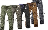 Multi-Pocket Men's Trousers Fashion Thermal New 2014 Camouflage Pants Cargo Pants Free Shipping ly2-30