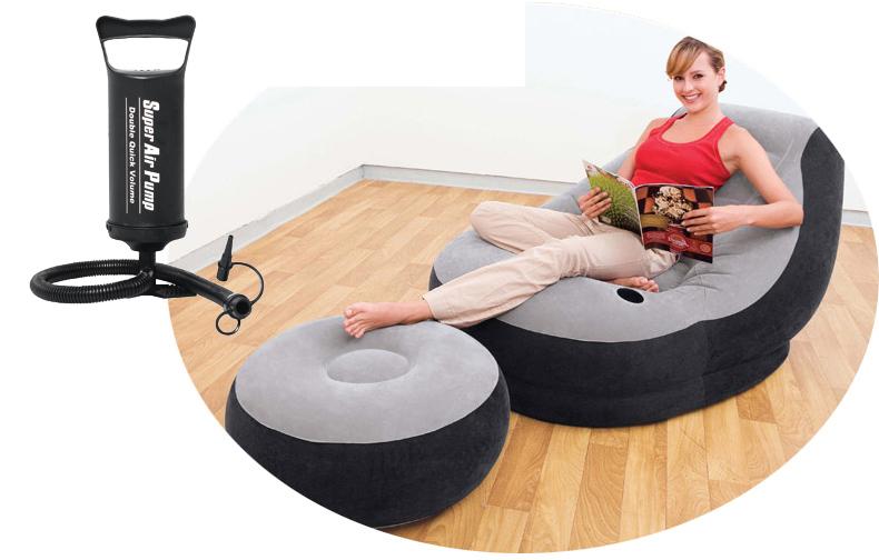 Intex aufblasbare lounge-sessel sofa aufblasbares sofa 130*99c*76cm, 64*28cm