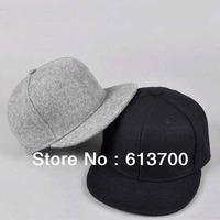 Wholesale Winter Blank Plain Snapback Hats Flat Hip Hop Hat Wool Headwear Baseball Cap Men Snap Back Cap  Free Shipping by DHL