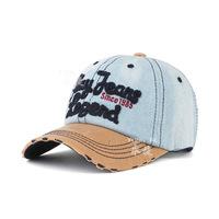 2014 new denim colored letters spell Korean baseball cap hat Ms. Spring