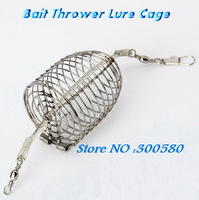 2pcs Stainless steel Bait thrower fishing lure cage samll bait cage Nest cage fight Feed cage