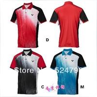 New 2014 South Korea Victor men YY9812  table tennis men shirt clothing / Badminton T-shirt Free