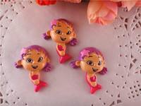 2014 new arrival kawaii bubble guppies resins flatback for hair bows flat back resins cameo hairbows 10pcs/lot  WQ14022402
