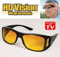 Free Shipping 200pcs/lot HD Vision Driving Sunglasses Wrap Around Glasses Unisex As Seen On TV