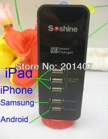 Soshine 5 Ports USB Smart Charger for iPhone/iPad/Samsung/Android Other Mobile Device,DC 5V 3.1A Max