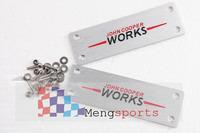 20pcs MINI Works John COOPER  Car Floor MAT ALLOY EMBLEM Badges
