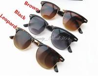 Retro Half Frame Clubmaster Sunglasses Classic Wayfarer Frame Sunglasses Factory Wholesale SG-0003