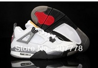 Free shipping,Mens Basketball Shoes White Cement 4s Athletic Shoes retail and wholesale