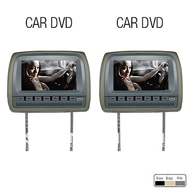 9 Inch High Resolution Car Headrest DVD Player with Games, FM(1Pair)(China (Mainland))
