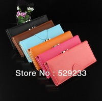 ZBJY New Fashion Hasp cards brand women purse wallets leisure brand genuine leather with PU wallet clutch purses for women