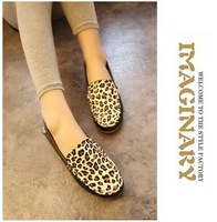new trending fashion 2014 women flat shoes leopard women spring boat shoes WHOLESALE PRICE free shipping
