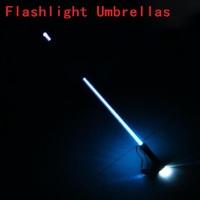 Wholesale Hand Torch Fashion Straight Pole Light Led Umbrella Long Handle LED Umbrella Flashlight Umbrellas