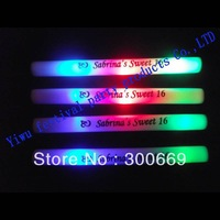 100pcs/ 1 lot Free Shipping Colourful Led Foam Stick customized logo available  Flashing Glow Sticks Wholesale Price-in Event