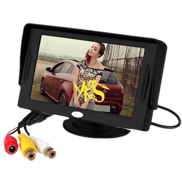"Hotsell 4.3"" TFT LCD Car Monitor Reverse Rearview Color Camera DVD VCR CCTV Wholesale Free Shipping(China (Mainland))"