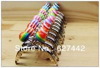 8CM purse frame, colorful kiss lock, Candy Bead Metal Purse Frame,Wallet Frame,12 Colors Cute Coin Purse Frames,12Pcs/Lot