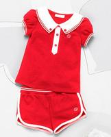 New, retails ,Free Shipping, girls T shirt+pants, girls clothes, sports suit ,1set/lot, 80-120cm--JYS607